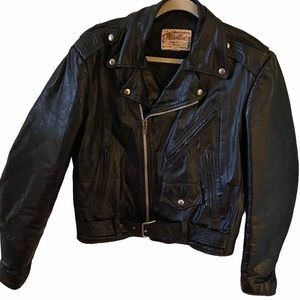 Vintage 1970s Excelled Leather Motorcycle Jacket